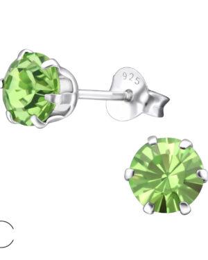 PUZETOVÉ NÁUŠNICE – Kolečka s Swarovski® krystaly, Ag925/1000, 0,50g