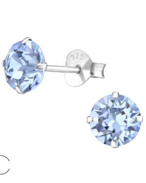 PUZETOVÉ NÁUŠNICE – Kolečka s Swarovski® krystaly, Ag925/1000, 0,45g