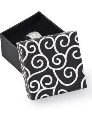 Dárková krabička na náušnice nebo prsten - ELEGANTNÍ