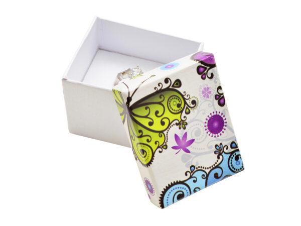 Dárková krabička na náušnice nebo prsten - MOTÝLEK