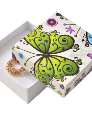 Dárková krabička na soupravu šperků - MOTÝLEK